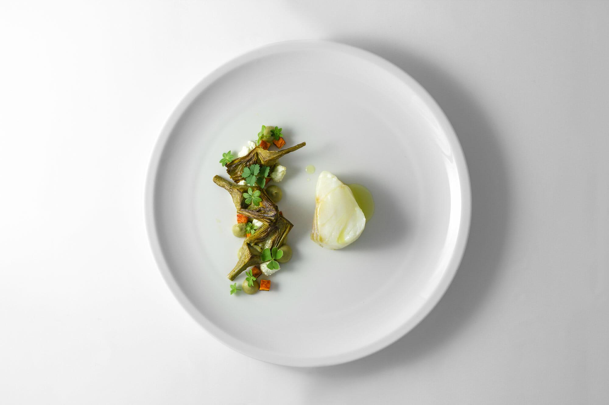 Baccalà, carciofi, patate dolci